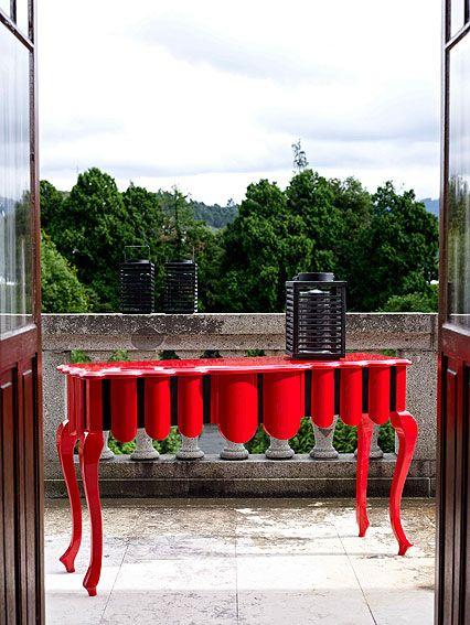 Muebles QUADRATURA arquitectos:  Consola Red - Consolas Vintage - Muebles Vintage