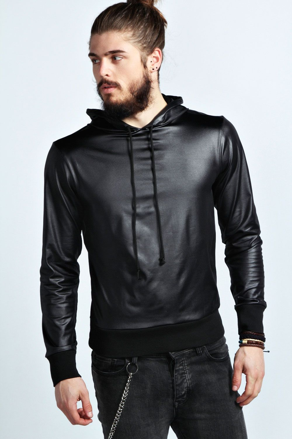 Boohoo Mens Faux Leather Look Long (With images) Mens