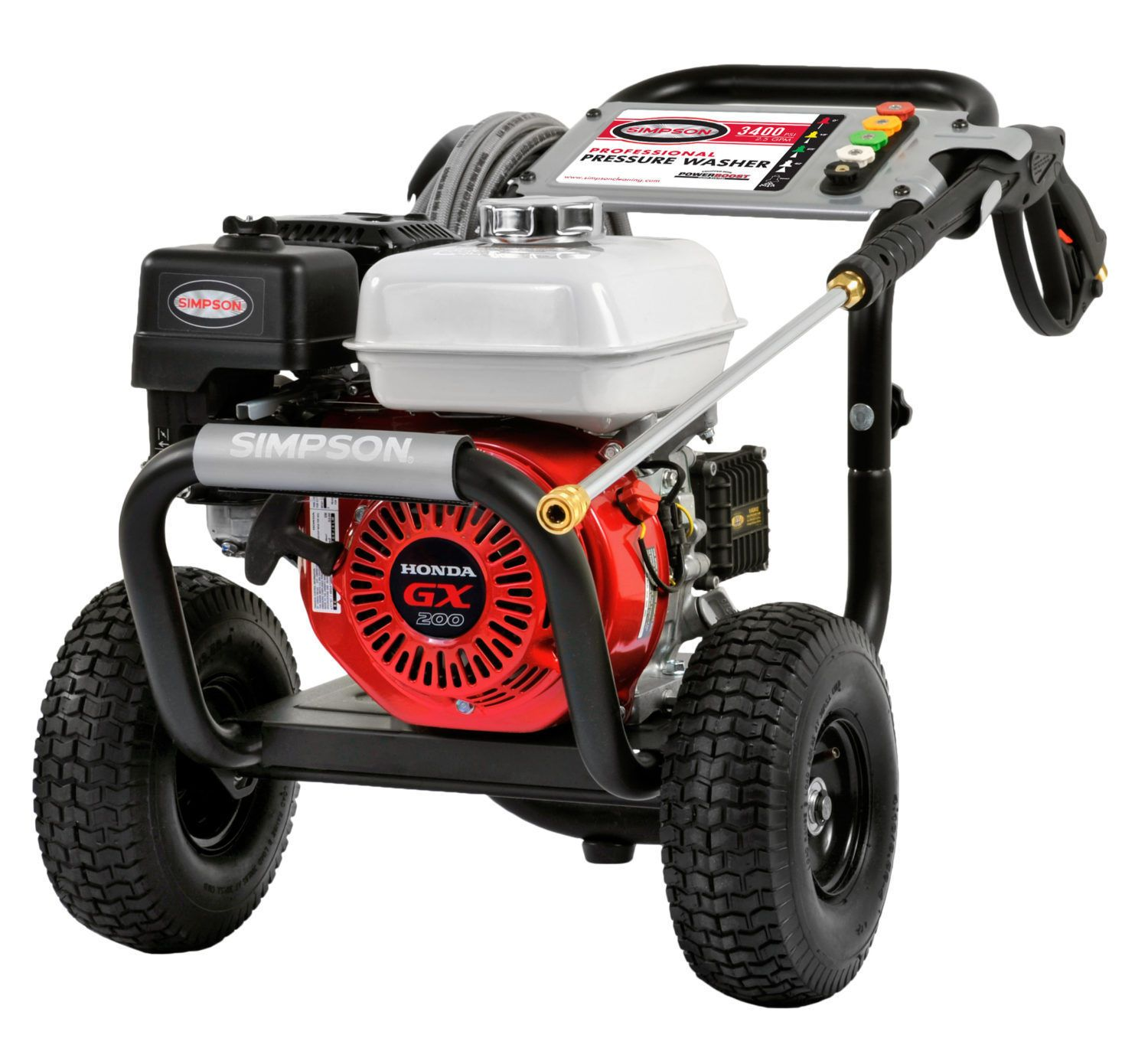 New Simpson 3400 PSI 2 5 GPM Professional Gas Pressure Washer