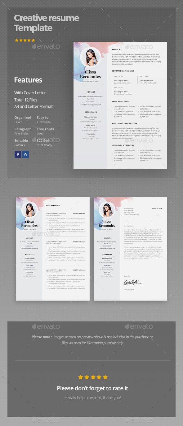 Resume Template | Template, Creative resume templates and Cv template