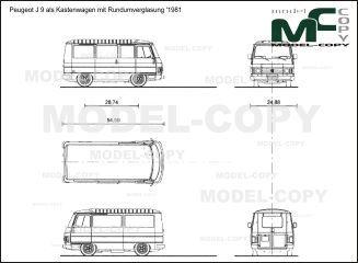 Peugeot J 9 Als Kastenwagen Mit Rundumverglasung 1981 Blueprints