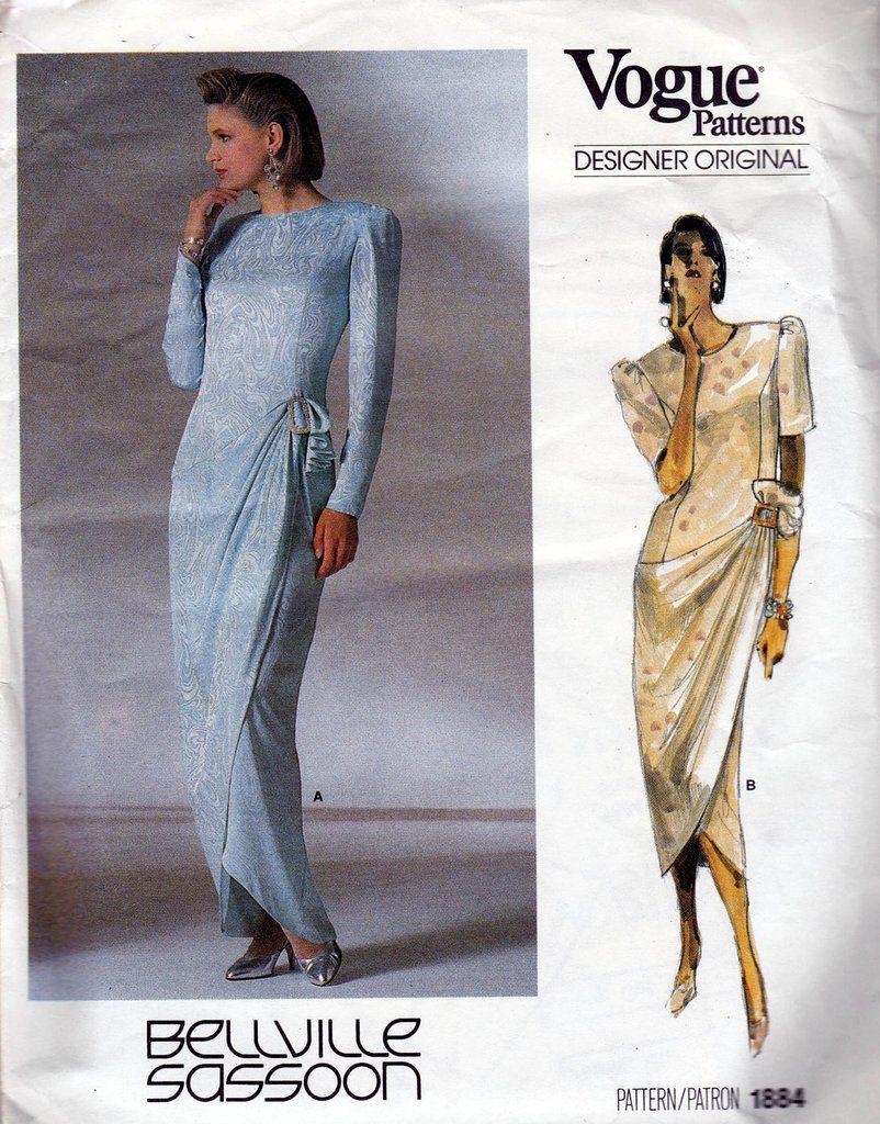 Vogue designer original bellville sassoon womens fitted prom