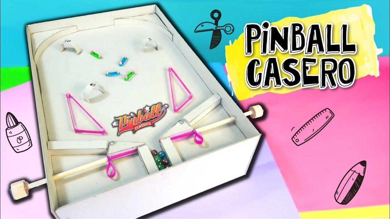 Diy Juguetes Caseros Como Hacer Un Pinball Con Cartón Crafts Pinball Pinball Diy