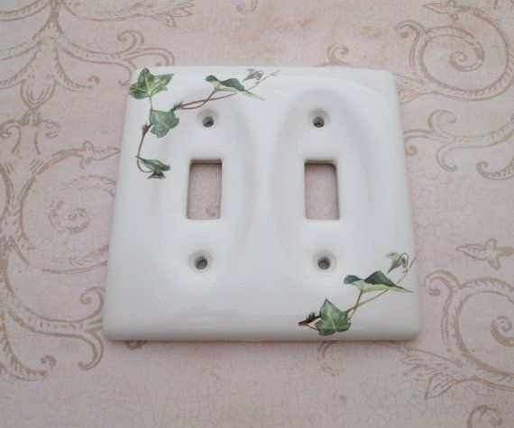 Your Place To Buy And Sell All Things Handmade Vintage Ceramic Light Switchplates Vintage Light Switches