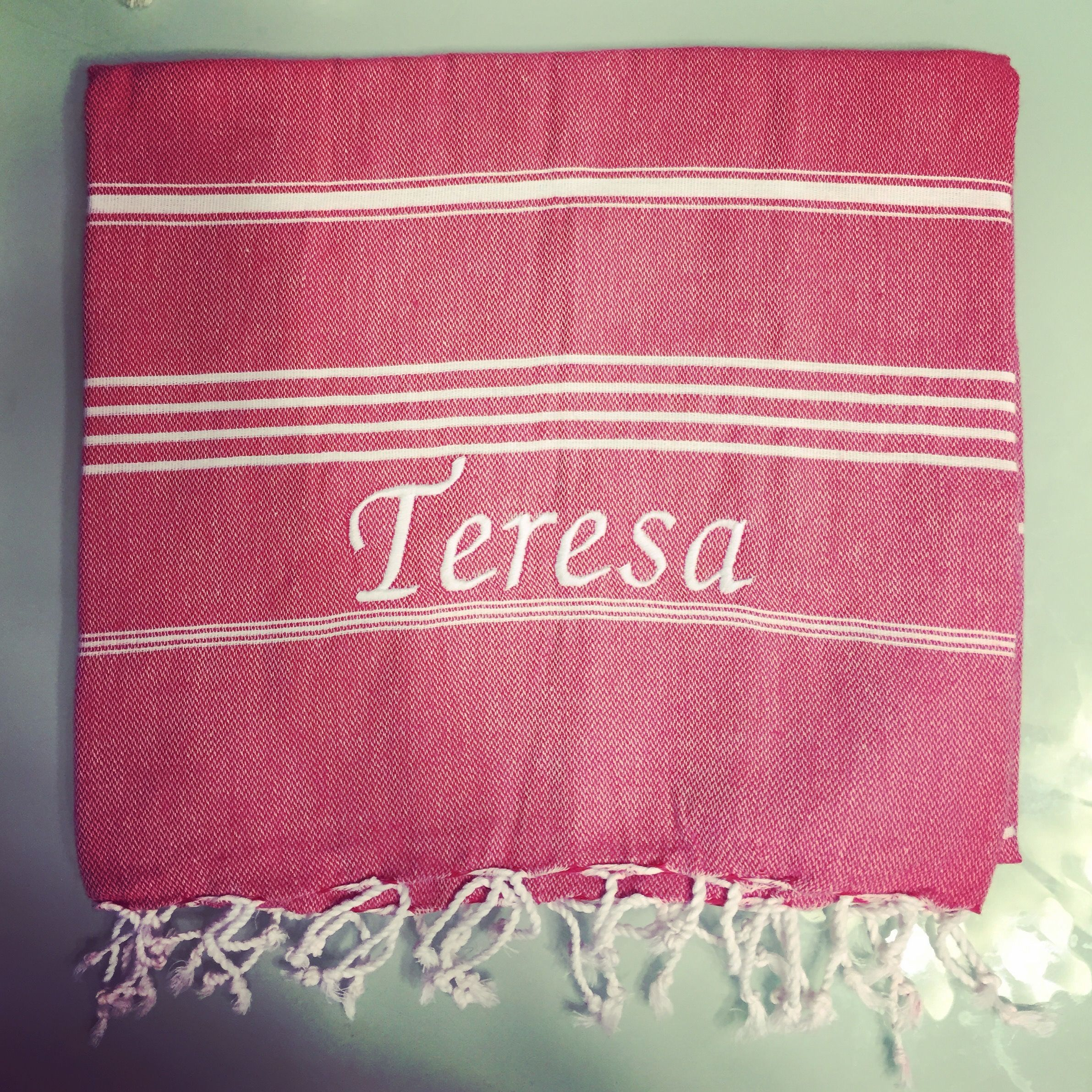 Personalise your Turkish Hamam towel with us www.hkturkish.com Ships ...