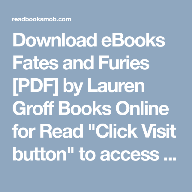 Download Ebooks Fates And Furies Pdf By Lauren Groff Books