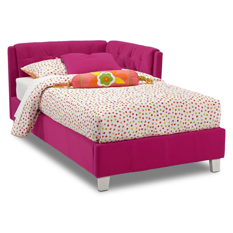 Jordan Twin Corner Bed Pink Corner twin beds, Bed in