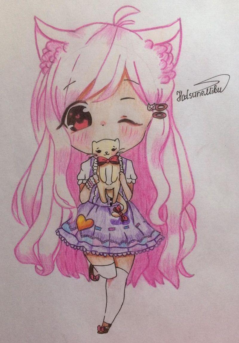 Рисунки карандашом девушки в стиле ваниль