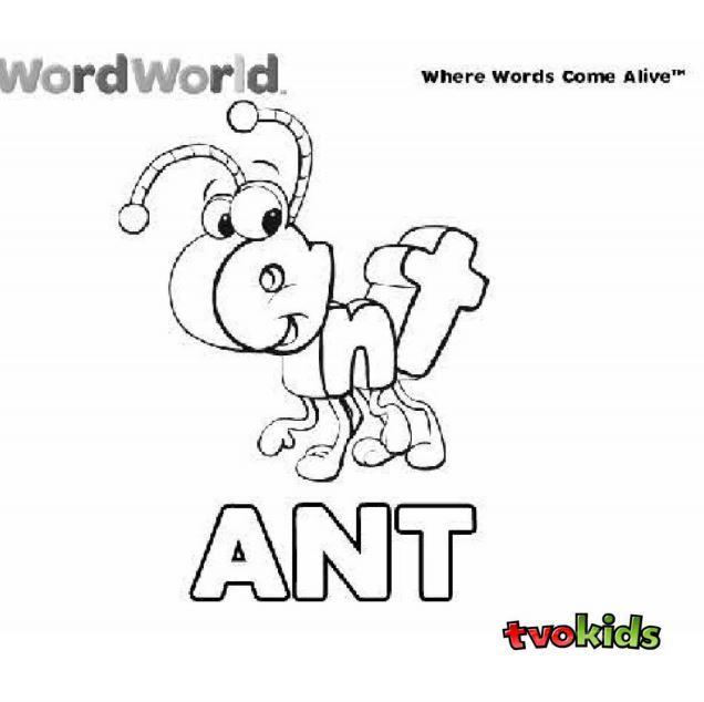 Preschool Word World Colouring Printable - Colour the word ...