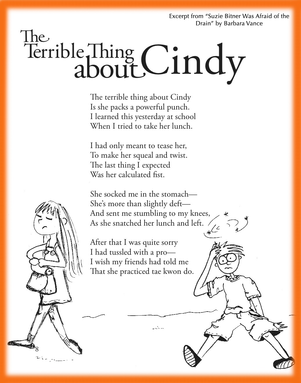 Funny Children S Poem About A Strong Girl Dealing With Bullying Great For School And Classroom