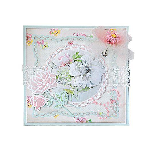 Marianne Design A5 Paper Bloc Rose Garden Pk9102 Cards