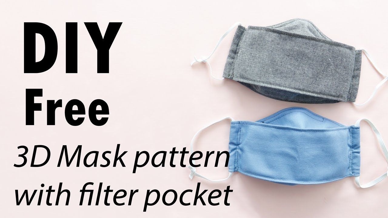 Photo of DIY Free pattern – 3D Mask with filter pocket (2 Sizes)