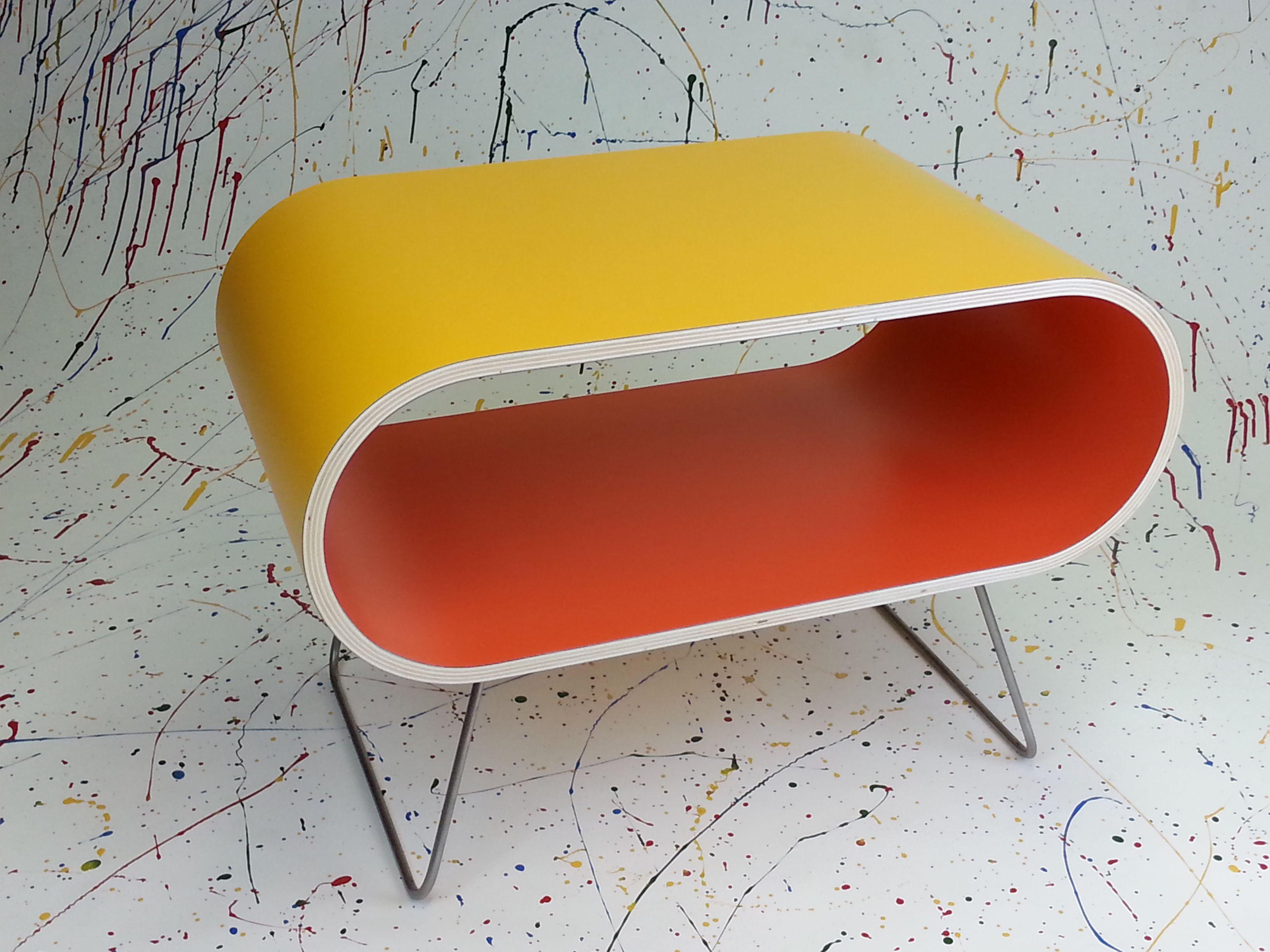 Küchentisch Hoch ~ Couch tisch pappel sperrholz hpl oberfläche chromstahlbeine 65 cm