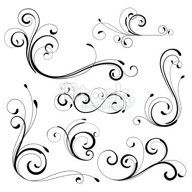 Various scroll designs. | Printables | Scroll design ...