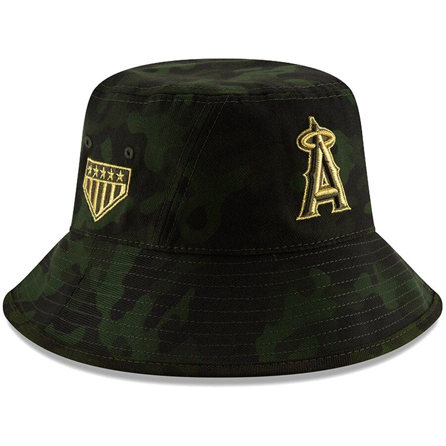 the latest 16aee 80fc7 Los Angeles Angels New Era 2019 MLB Armed Forces Day Bucket Hat - Camo, Your
