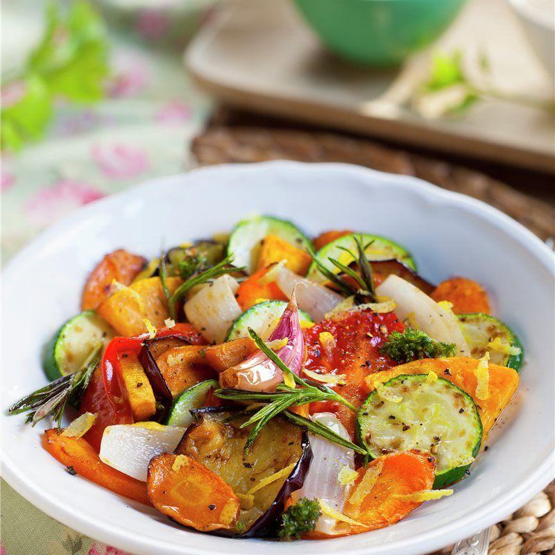Verduras Marinadas Con Hierbas Y Limon Receta Verduras Verduras Salteadas Comida