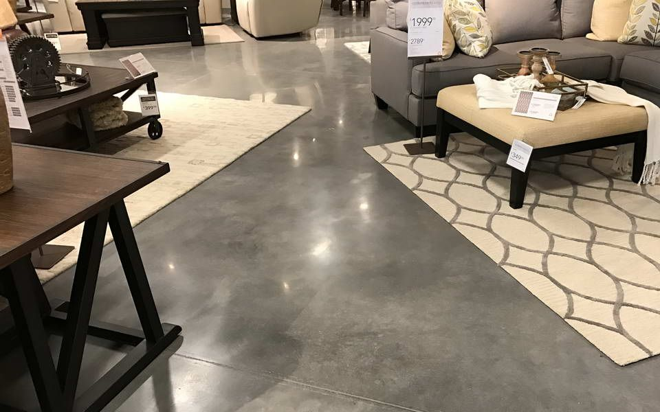 Polished Concrete Ashley Furniture Store Gainesville Florida   Advance  Industrial Coatings
