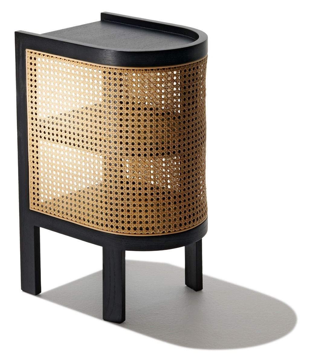 Cane Nightstand Coffee table inspiration, Cane furniture