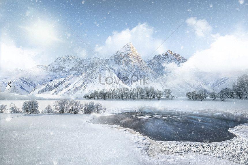 مشهد الثلوج في فصل الشتاء Natural Landmarks Nature Winter Snow
