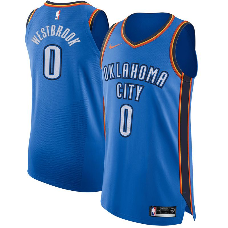 22a61813 Russell Westbrook Oklahoma City Thunder Nike Authentic Jersey Blue - Icon  Edition