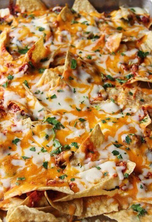 "FoodPorn on Twitter: ""Pizza Nachos https://t.co/MJ6XNh87rB"""