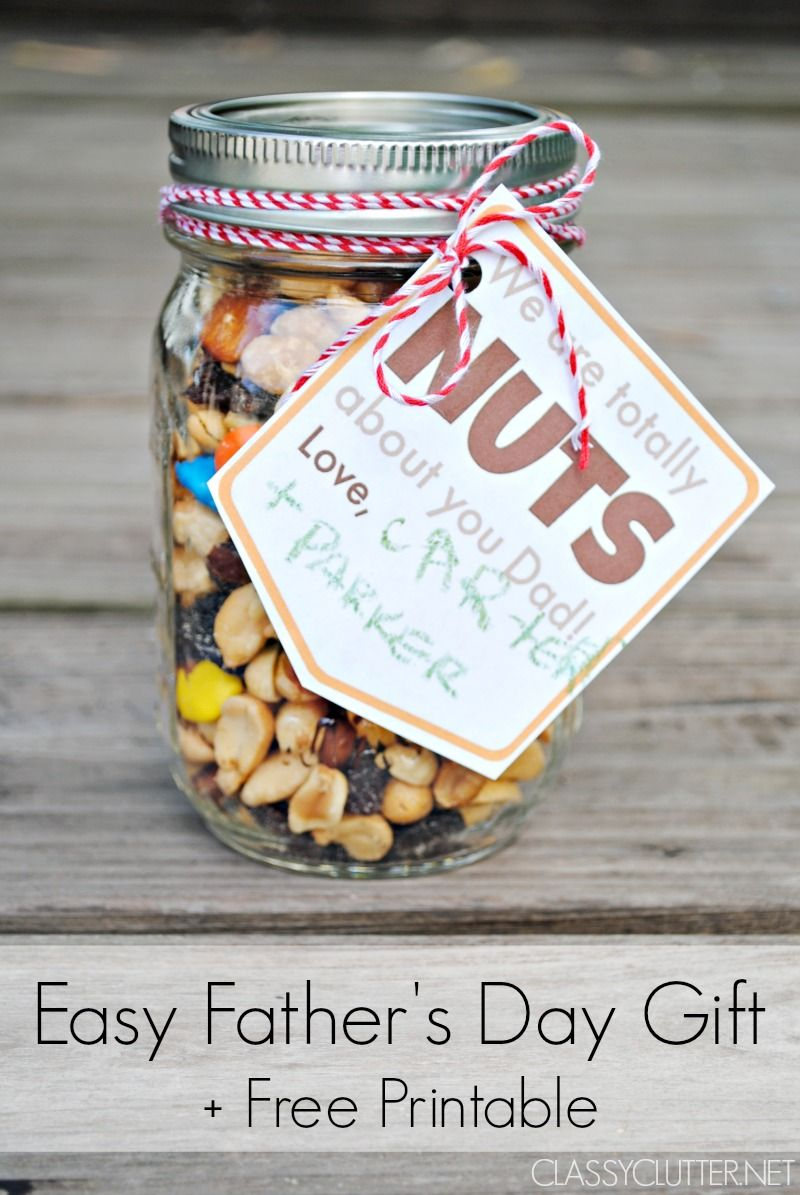 Father's Day Gift Idea and a Free Printable Gift Tag | Free ...