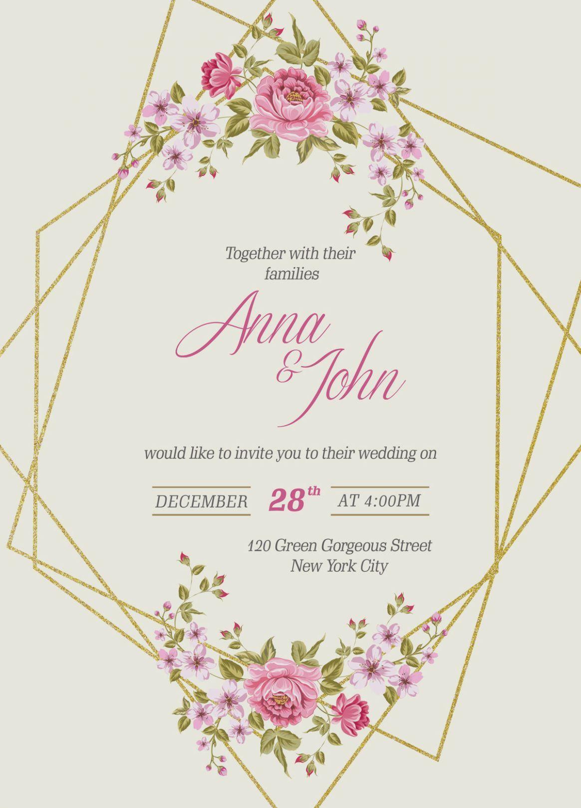 6 Wedding Card Invitation Template Free Wedding Invitation Templates Free Printable Wedding Invitations Wedding Invitations Printable Templates
