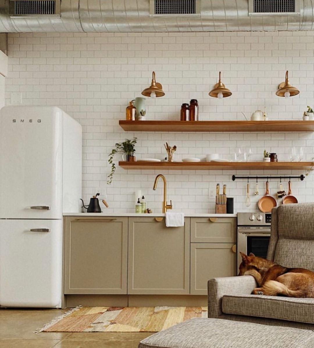 Cute Loft Sneak Peek And From Oaktrailhome In Milwaukee Featuring Our Shaker Doors On In 2020 Kitchen Remodel Modern Farmhouse Kitchens Floating Shelves Kitchen