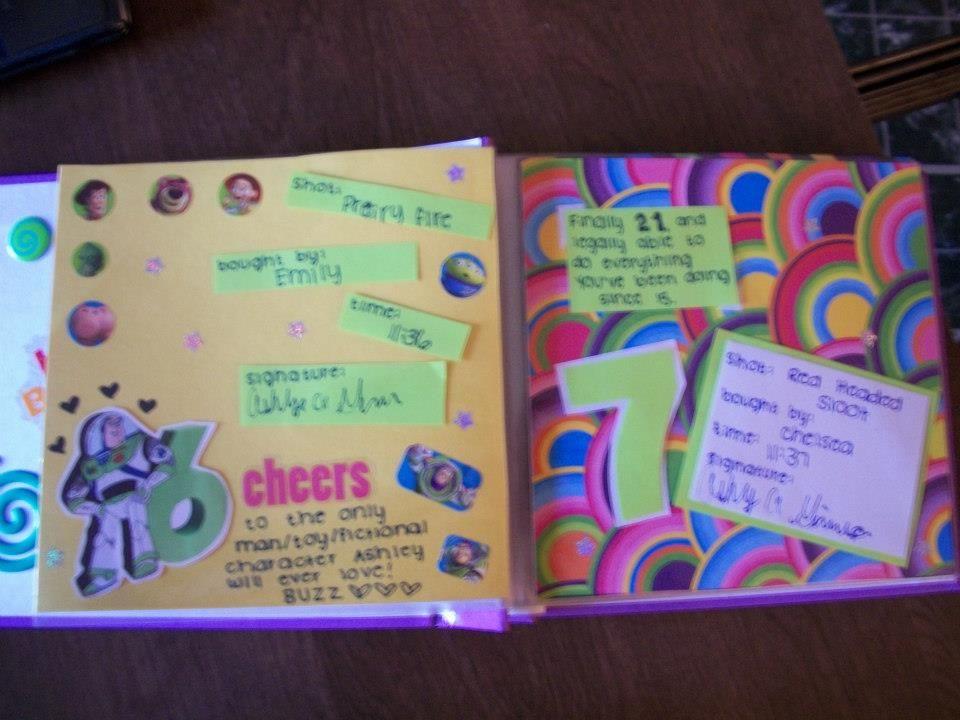 shot book 21 birthday ideas Pinterest Shot book 21st