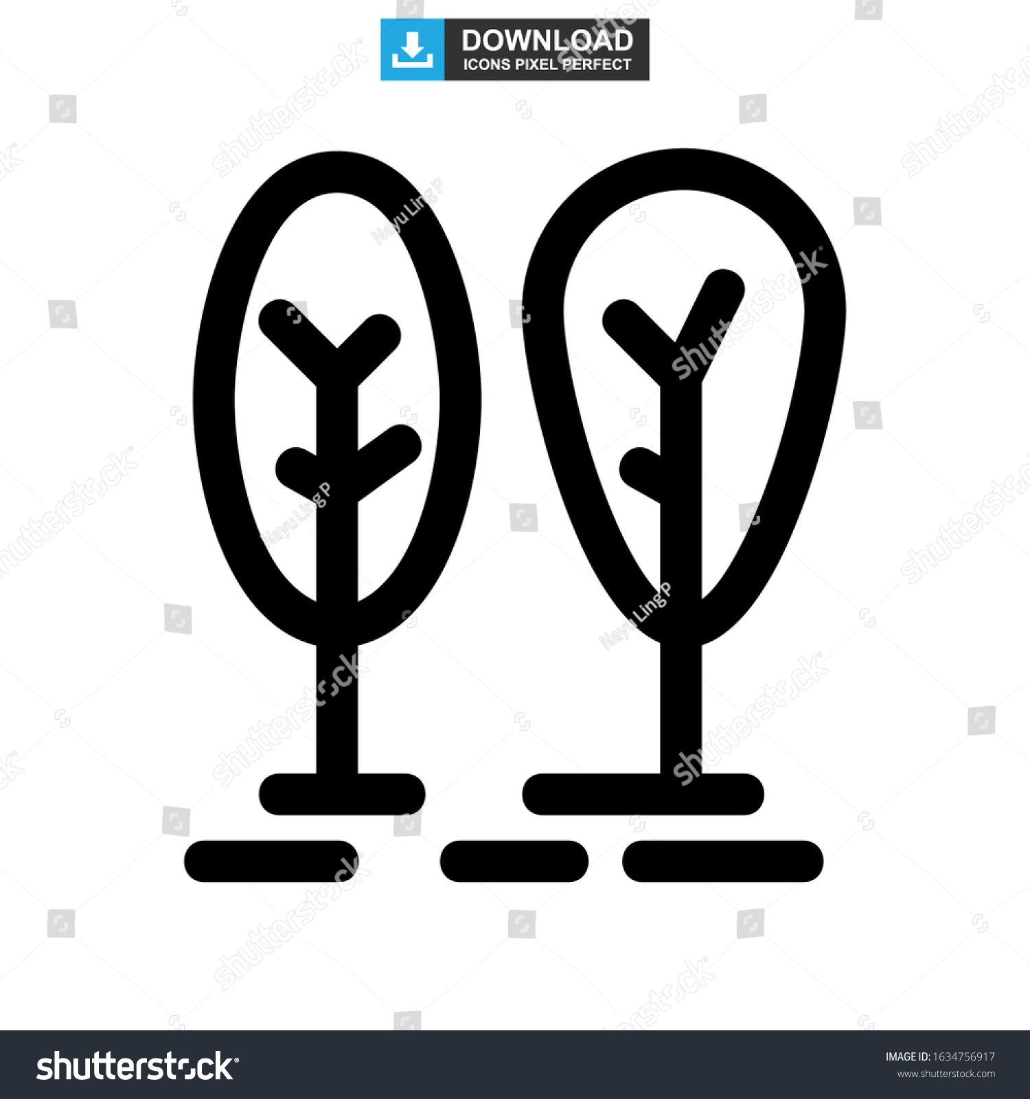 Forest Icon Or Logo Isolated Sign Symbol Vector Illustration High Quality Black Style Vector Icons N Ad Ad Isolated Symbols Icon Business Icons Design