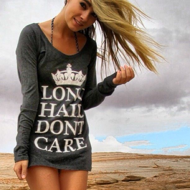 Gorgeous! Express yourself in our LHDC long sleeve burnout! ⭐www.LHDC.com⭐ #bestseller #longhairdontcare #keepcal #LHDCclothing #clickhere #follow