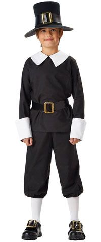 Pilgrim Boy Colonial Thanksgiving Child Costume