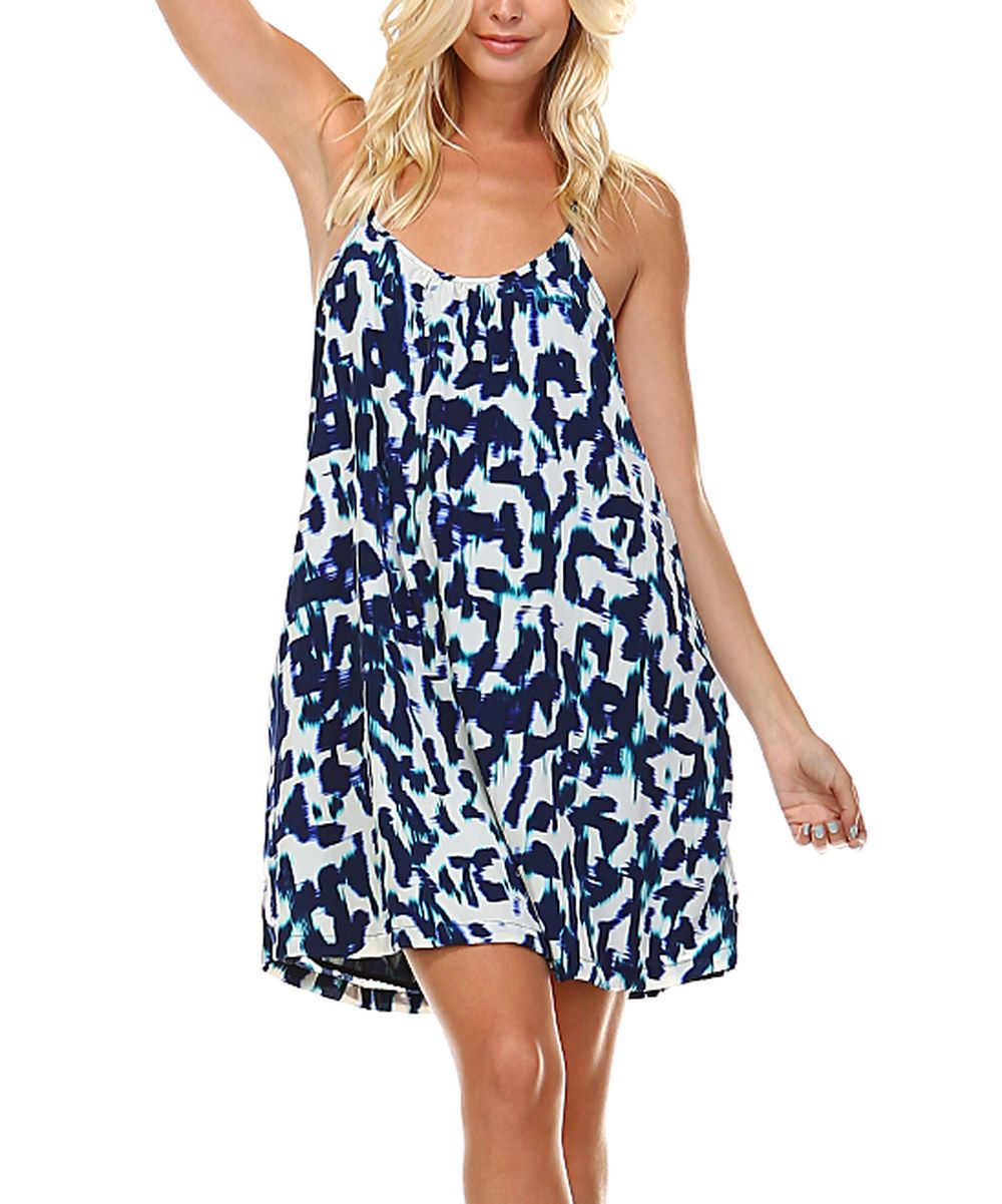 Look at this marcelle margaux blue spaghettistrap swing dress on