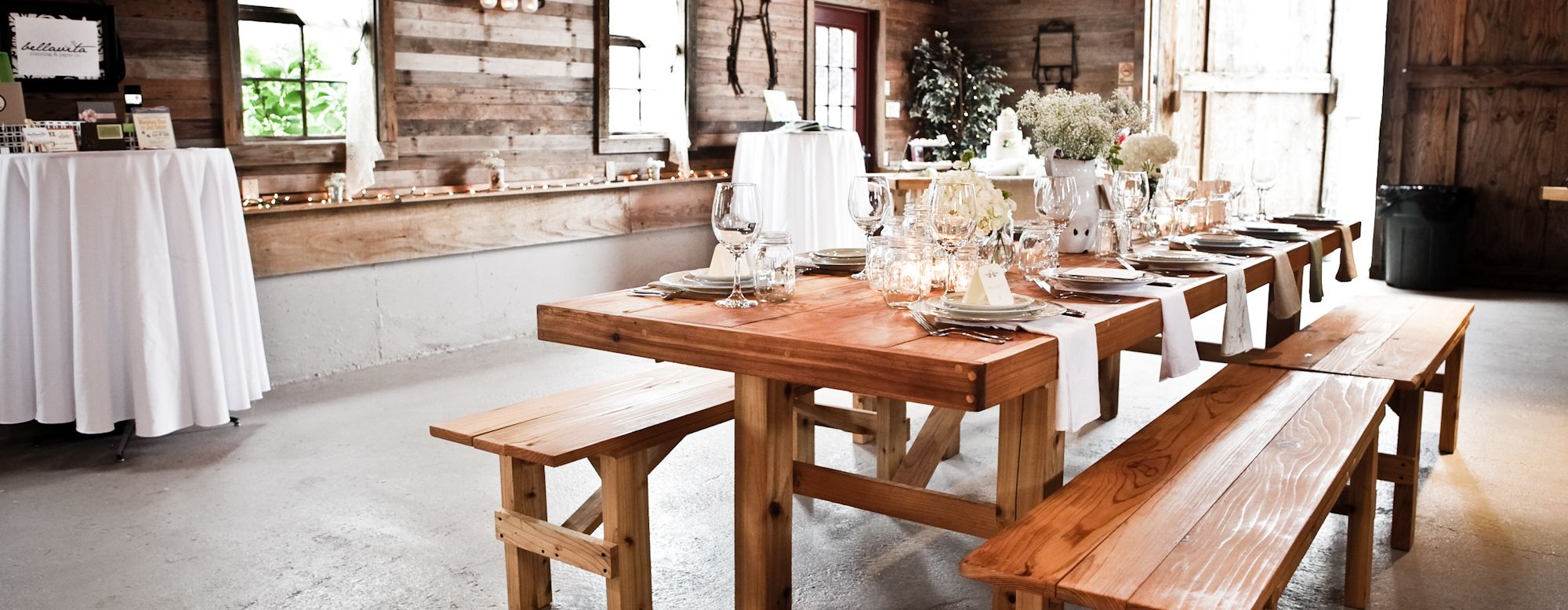 seattle farm tables wood table rentals seattle area farm tables mismatched dish rentals - Farmhouse Table For Sale