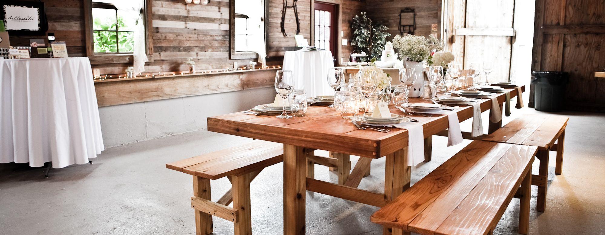 seattle farm tables wood table rentals seattle area farm tables
