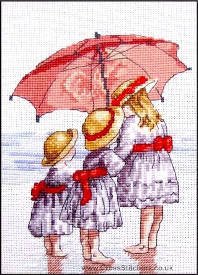 Beach, Seaside, Rivers & Lakes - 3 Girls - All Our Yesterdays Cross Stitch Kit