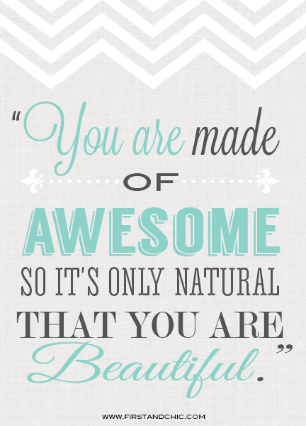 Inspirational Quote for Women #2 | First & Chic Blog