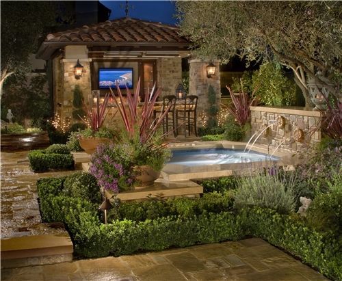 images about backyard landscapes on, tuscan backyard landscaping ideas