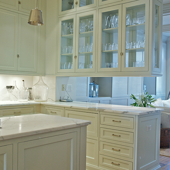 See Through Cabinets Transitional Kitchen Leo Designs Chicago