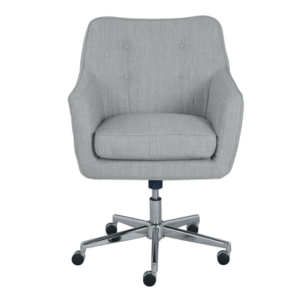 Upholstered Office Chair On Casters - Luxury Home Office Furniture ...