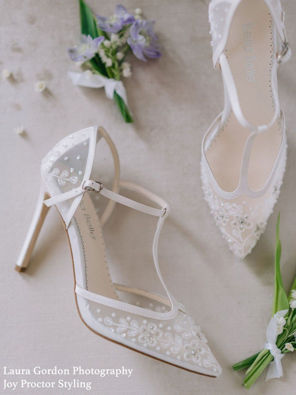Ivory Floral Beaded T Strap Wedding Heel In 2021 Beautiful Wedding Shoes Wedding Shoes Lace Wedding Shoes