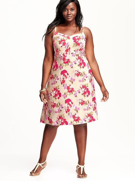 21fe96702abb7 Old Navy Women's Plus Printed Sundress in Warm Floral (Pink), $37 Retail  Price ($29 On Sale) via OldNavy.Com