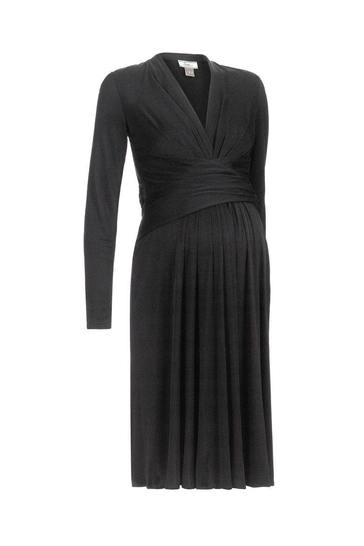 Issa mock wrap dress in black dresses u skirts maternity