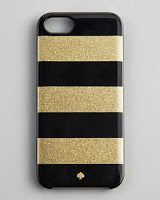 Kate Spade iPhone Stripe iphone case, Gold iphone case