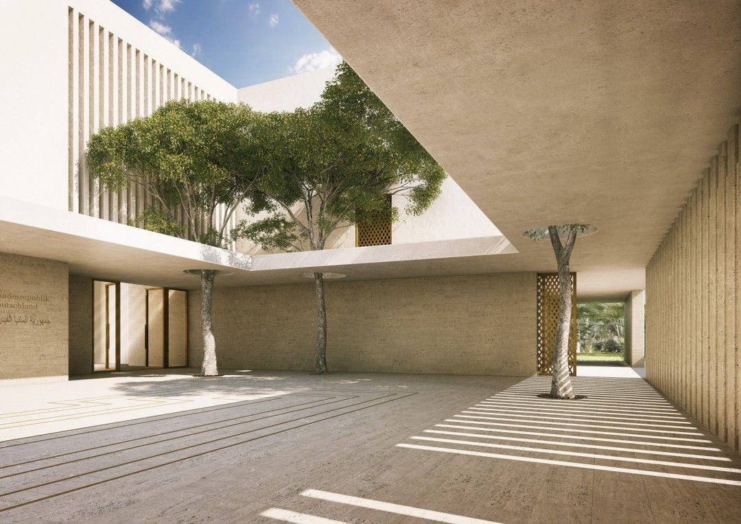 Visualisierung Wettbewerb Deutsche Botschaft Kairo Jordi