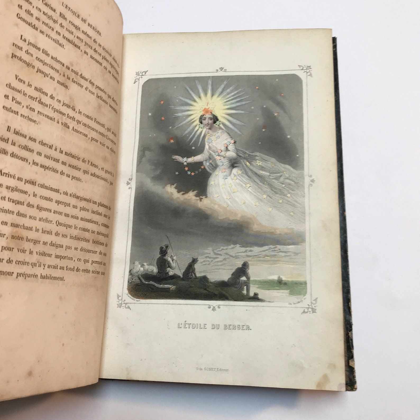 1849 Edition Of Jj Grandville S Les Etoiles Or The Stars Etsy Illustration Faeries Book Cover