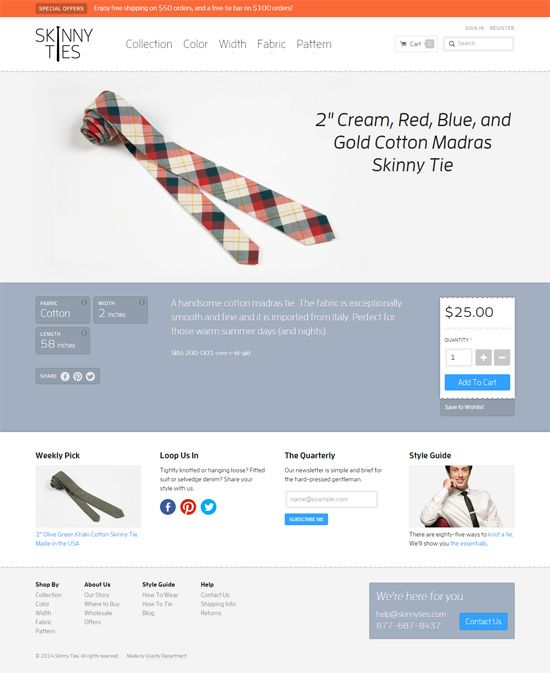 30 Beautiful Ecommerce Product Page Designs | Web Design Layout ...