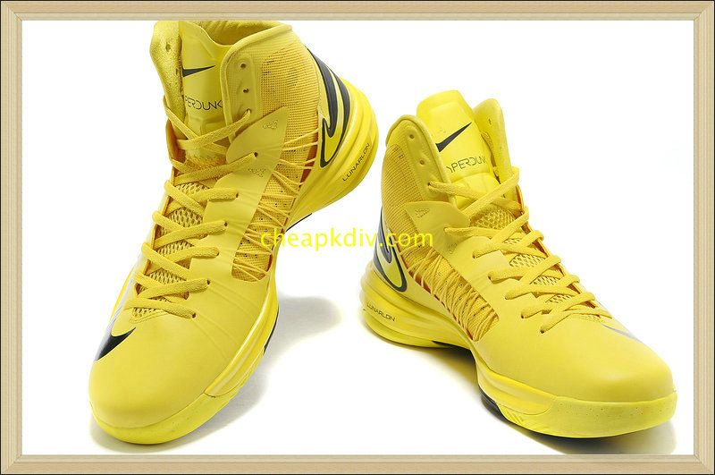 online store e47b3 f7a17 Hyperdunk 2013 Lebron Nike Lunar Hyperdunks Patty Mills PE Sonic Yellow  Black 535359 102  Yellow  Womens  Sneakers