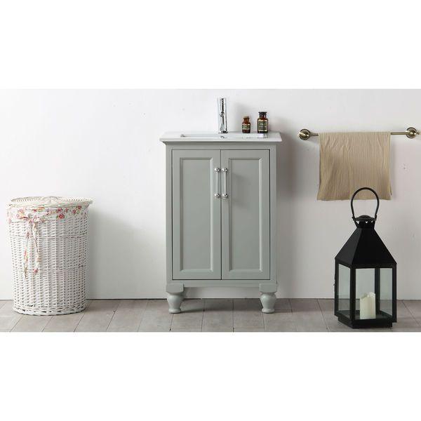 Legion Furniture 24 Inch Cool Grey Single Bathroom Vanity | Overstock.com  Shopping