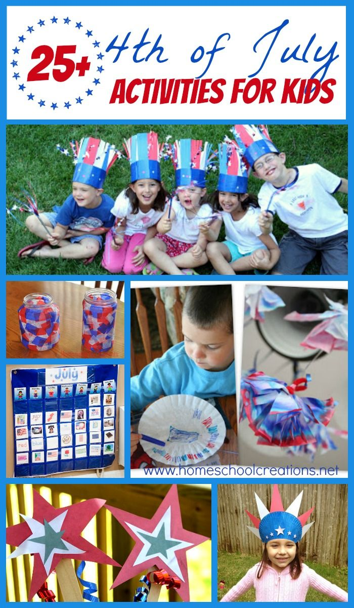 25 4th of July Crafts, Activities, and Printables July